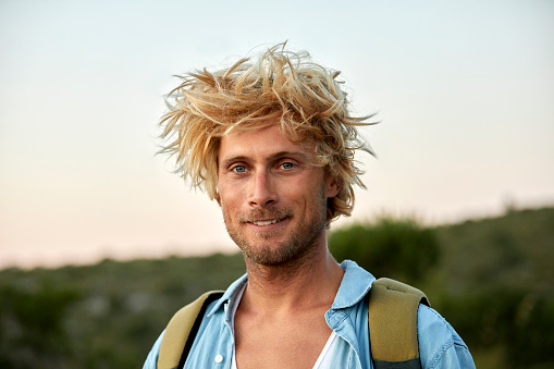 Incredible Closeup Of Hiker With Messy Hair Stock Photo Download Image Now Schematic Wiring Diagrams Amerangerunnerswayorg