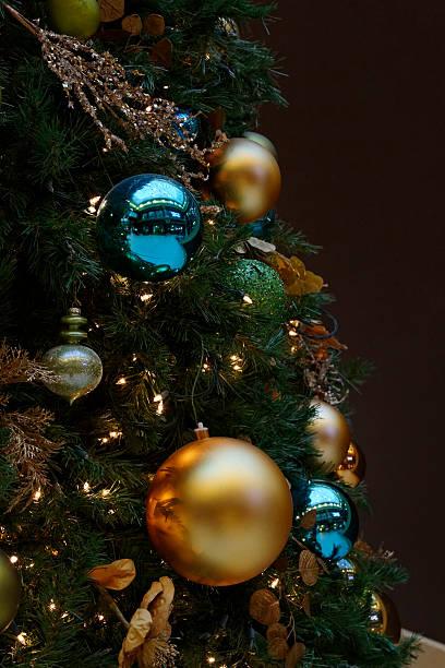 CloseUp Of Holiday Ornaments stock photo