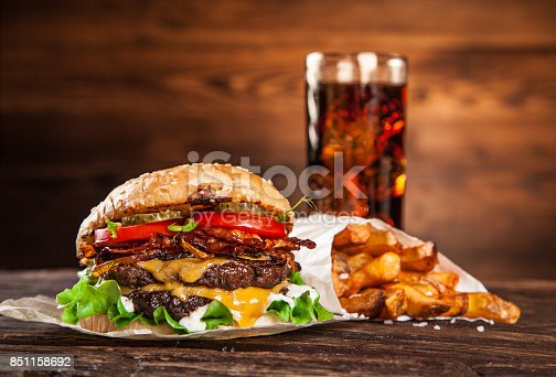 851159308 istock photo Close-up of home made burgers 851158692