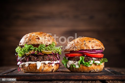 851159308 istock photo Close-up of home made burgers 851158966