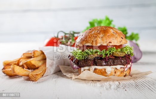 851159308 istock photo Close-up of home made burgers 851159772