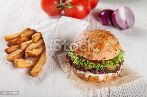 851159308 istock photo Close-up of home made burgers 851159886