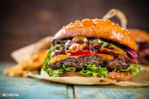 851159308 istock photo Close-up of home made burgers 851483768