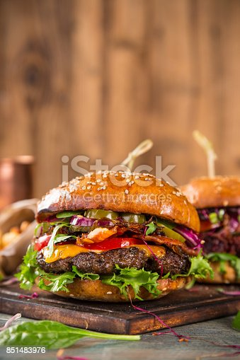 851159308 istock photo Close-up of home made burgers 851483976