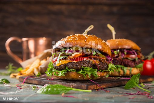 851159308 istock photo Close-up of home made burgers 851484082
