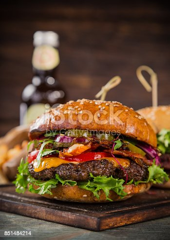 851159308 istock photo Close-up of home made burgers 851484214