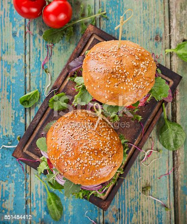 851159308 istock photo Close-up of home made burgers 851484412