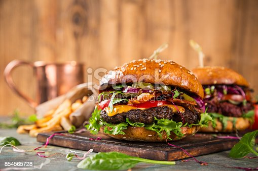 851159308 istock photo Close-up of home made burgers 854565728