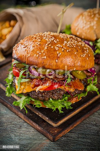 851159308 istock photo Close-up of home made burgers 854566150