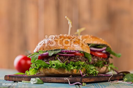 851159308istockphoto Close-up of home made burgers 854566300