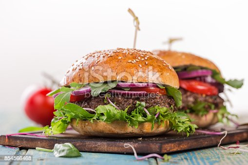 851159308 istock photo Close-up of home made burgers 854566468