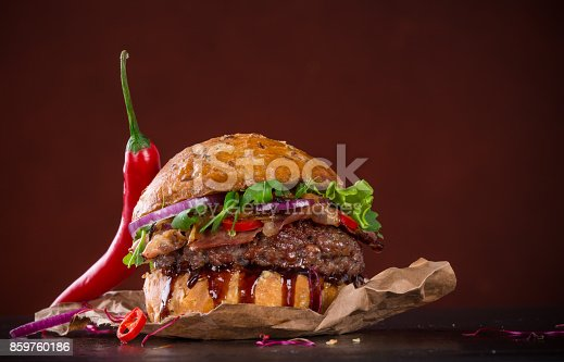851159308 istock photo Close-up of home made burgers 859760186
