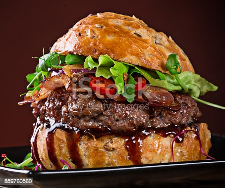 851159308 istock photo Close-up of home made burgers 859760560