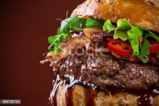 851159308 istock photo Close-up of home made burgers 859760754