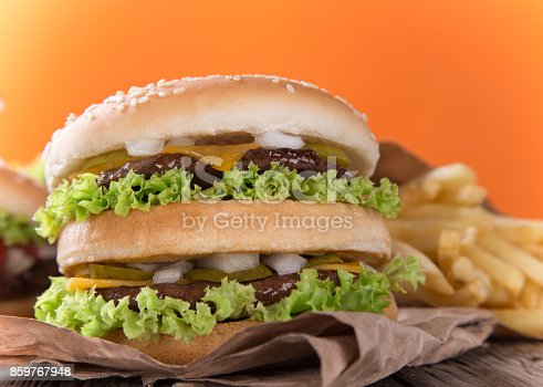 851159308 istock photo Close-up of home made burgers 859767948