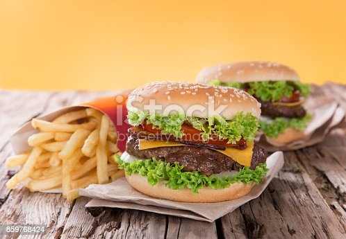 851159308 istock photo Close-up of home made burgers 859768424
