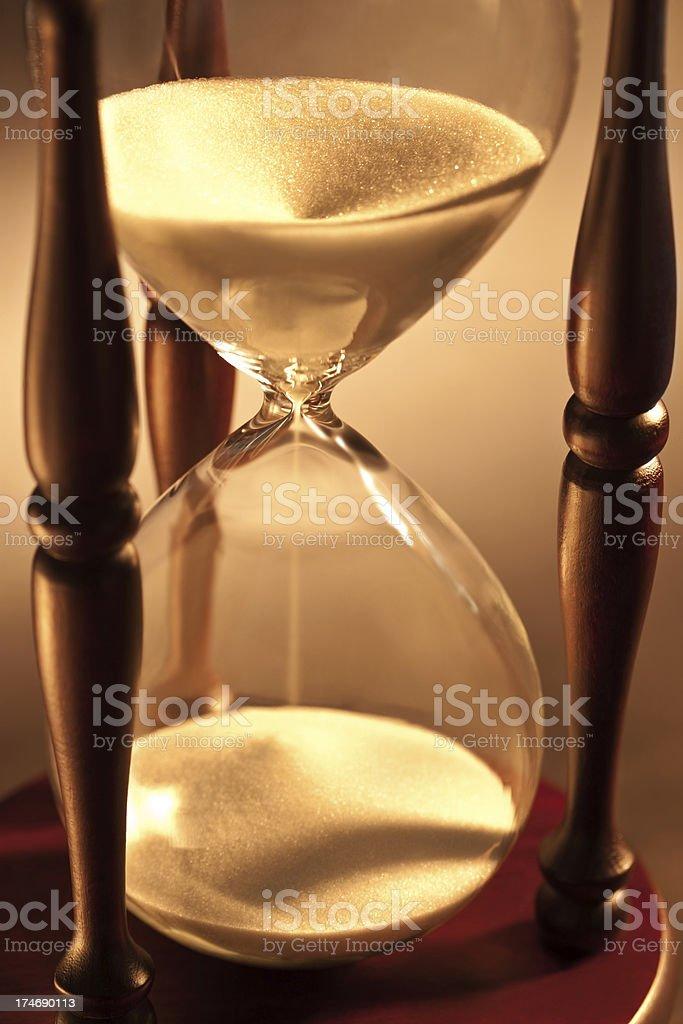 Closeup of hourglass royalty-free stock photo