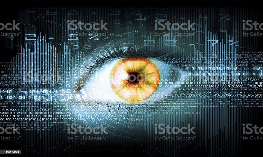 Close-up of human eye stock photo
