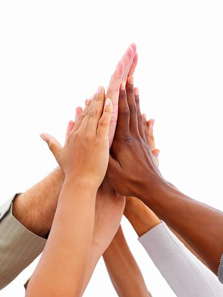 Nahaufnahme der Hände, die Einheit – Foto