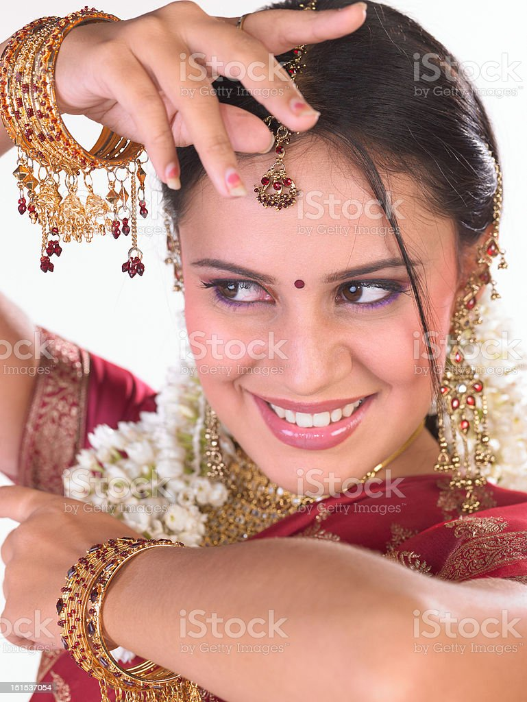 Close-up of Indian girl royalty-free stock photo