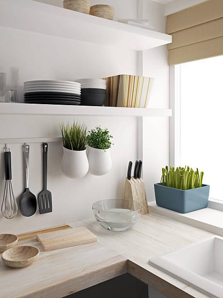 Closeup of kitchen room design stock photo