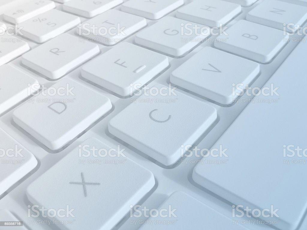 Closeup of laptop keys royaltyfri bildbanksbilder