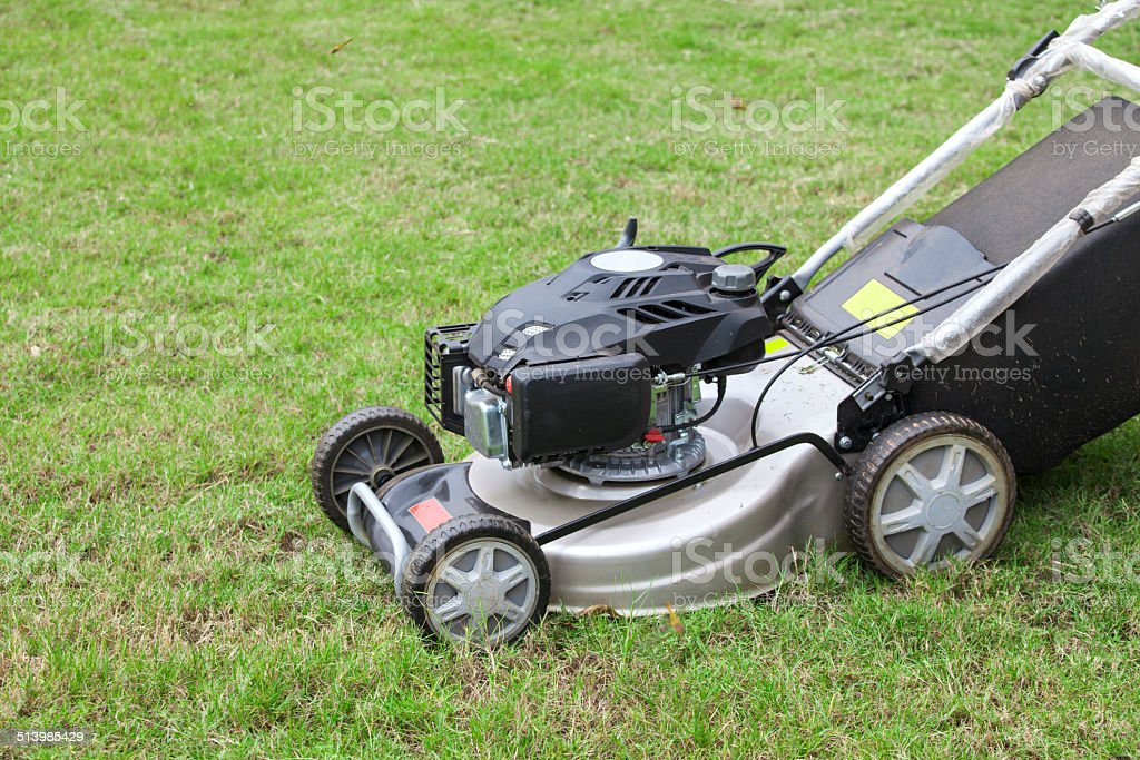 Close-up of Lawnmower stock photo