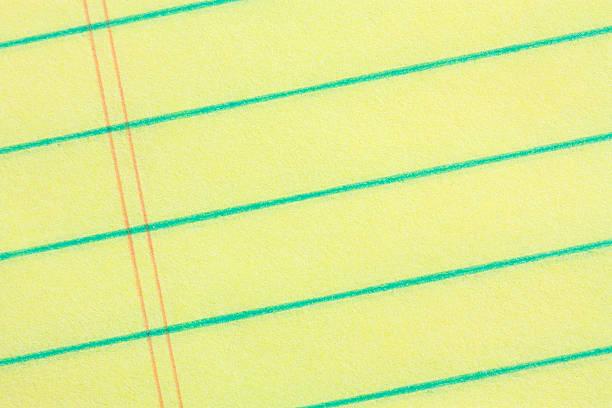 Nahaufnahme der rechtlichen pad Papier – Foto