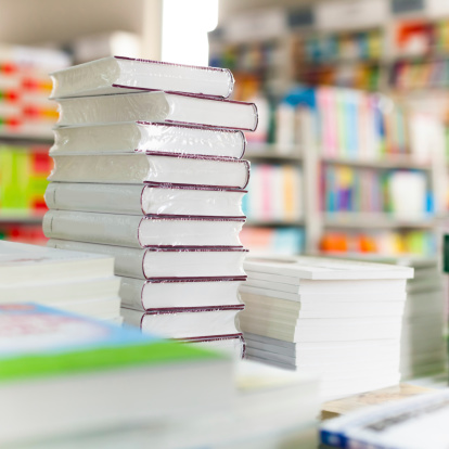 Closeup Of Library Books Stock Photo - Download Image Now
