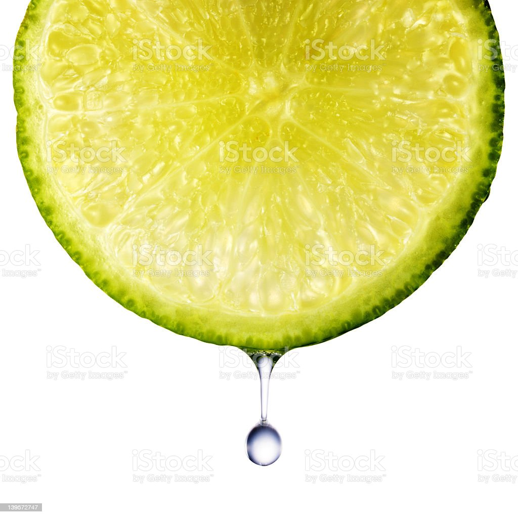 Closeup of lime slice royalty-free stock photo