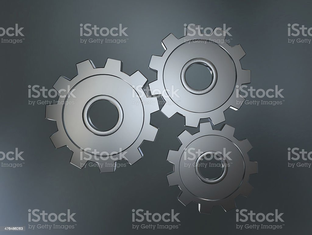 Close-up of Machine Gears royalty-free stock photo