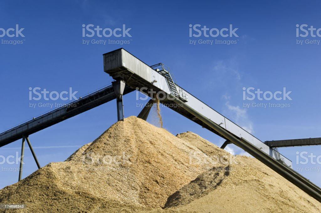Close-up of machinery for industrial paper mill factory royalty-free stock photo
