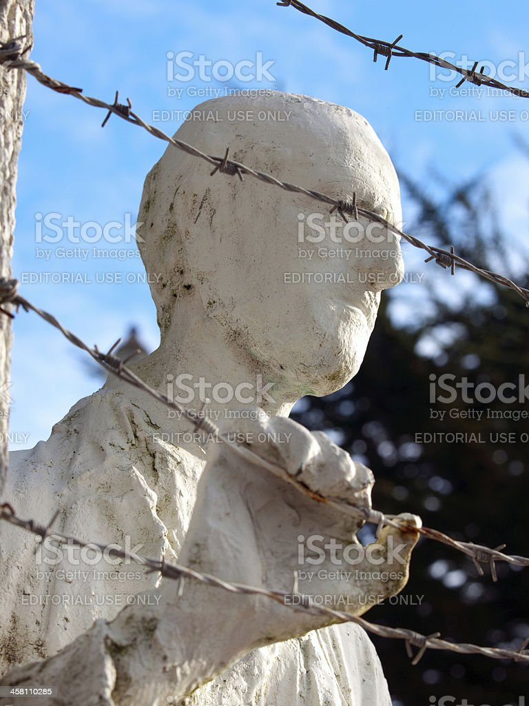 close-up of man Holocaust Memorial statue stock photo