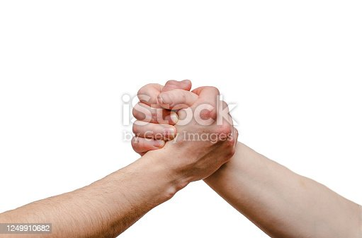 istock Closeup of man shaking hands 1249910682