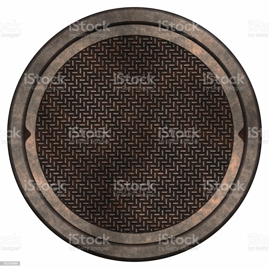 Closeup of manhole cover royalty-free stock photo
