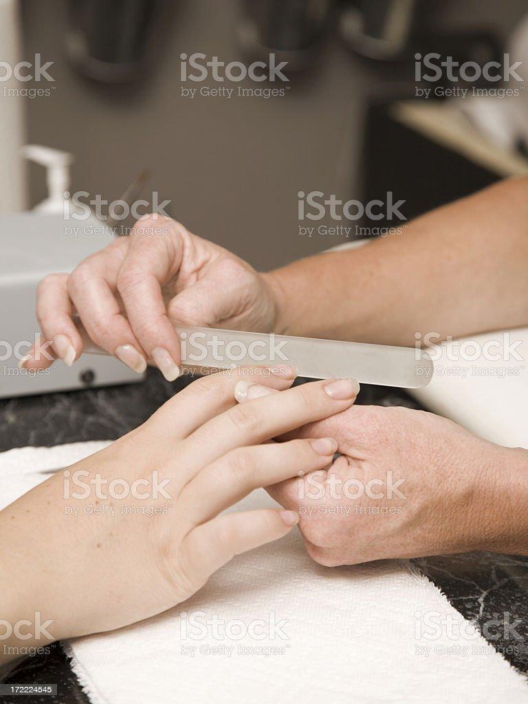Closeup of Manicure royalty-free stock photo