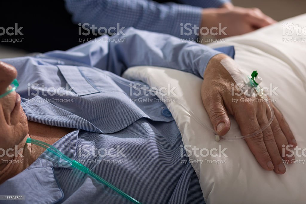 Close-up of man's hand stock photo
