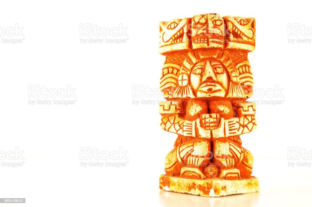 瑪雅雕像特寫 - 免版稅器材圖庫照片