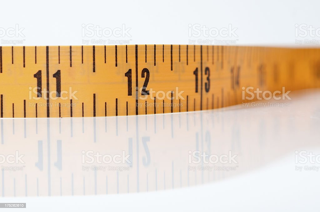 Close-up of Measuring Tape royalty-free stock photo