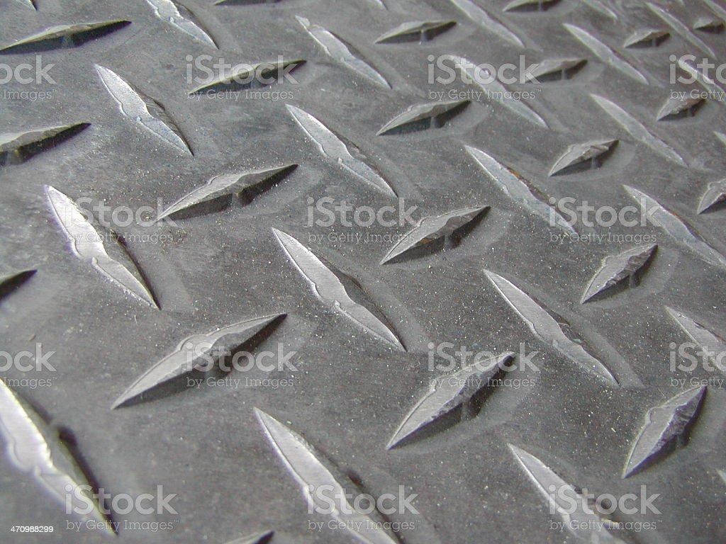 closeup of metal treads royalty-free stock photo