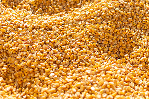 Close-up of millions of corn kernels stock photo