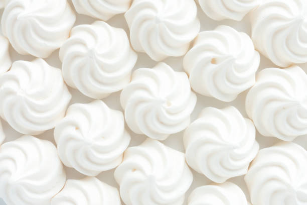 Closeup of Mini Meringues as Food Background – Foto