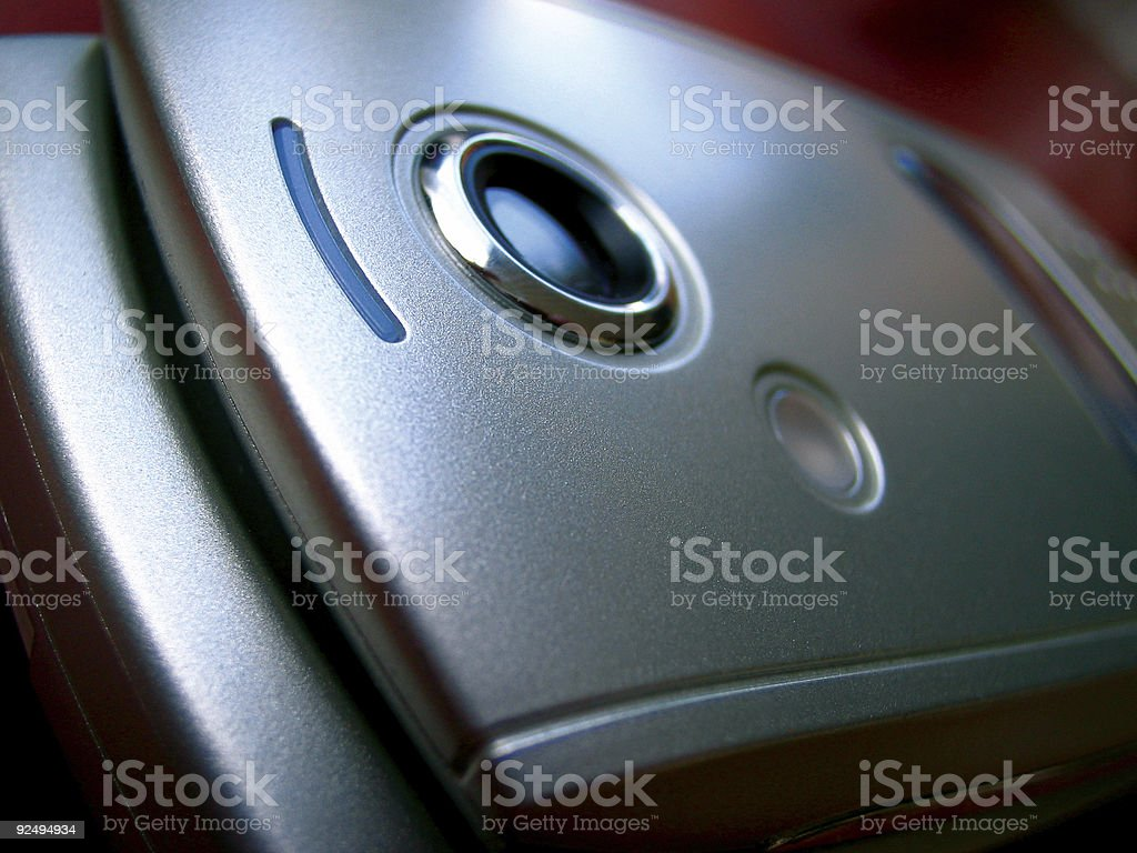Closeup of mobile phone with camera royalty-free stock photo