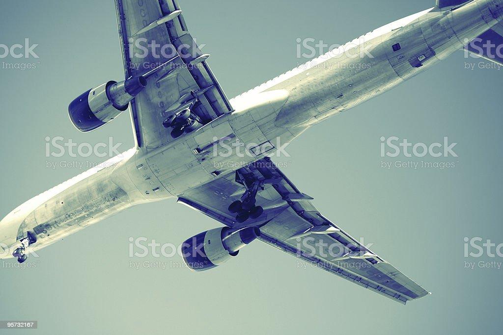 Close-up of modern aircraft royalty-free stock photo