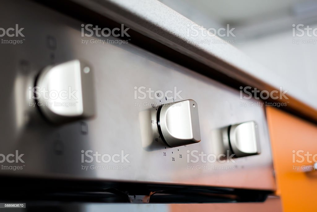 Close-up of modern electric cooker stock photo