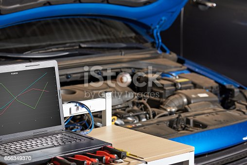 istock Closeup of modern electronic diagnostic table 656349370