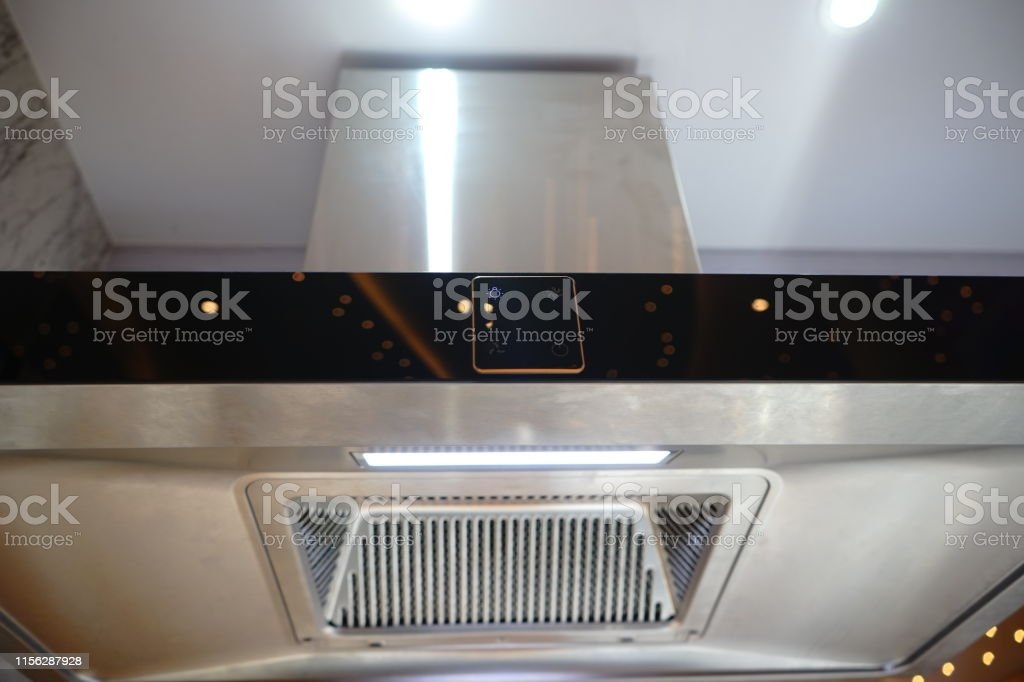 Closeup Of Modern Kitchen Exhaust Fan Stock Photo Download Image Now Istock