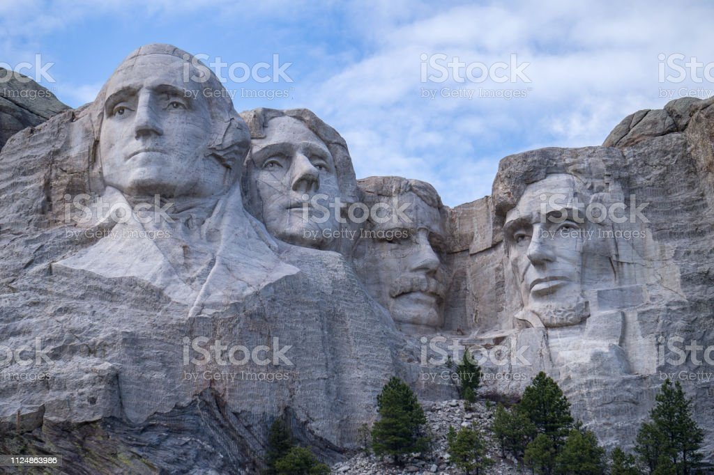 Close-up van Mount Rushmore - Royalty-free Abraham Lincoln Stockfoto