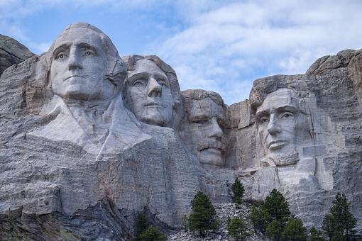 Closeup of Mount Rushmore