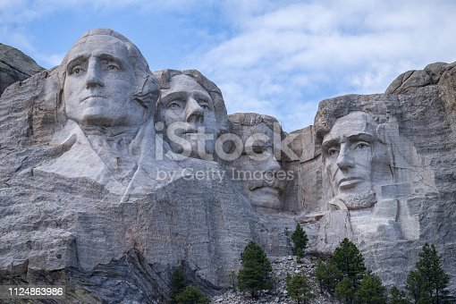 Closeup of Mount Rushmore